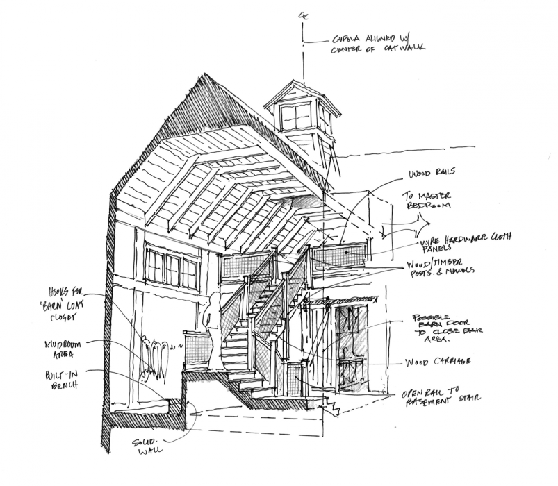 Historical concepts homes drawing board sketchbook for Residential architectural drawings