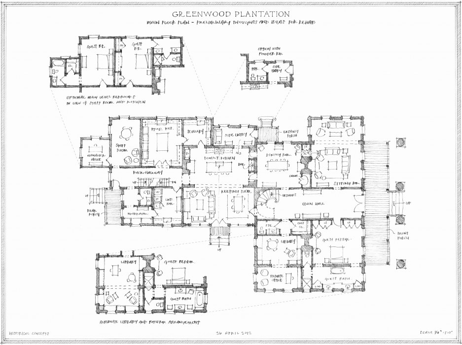 Historical concepts homes drawing board greenwood for Historical concepts house plans